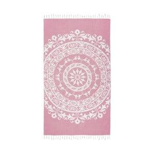 Ružová hammam osuška Kate Louise Madalena, 165x100cm