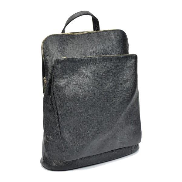 Čierny kožený batoh Isabella Rhea Maria