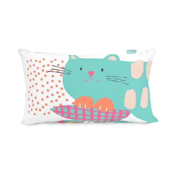 Obojstranná obliečka na vankúš Moshi Moshi Cat&Mouse, 50x30cm