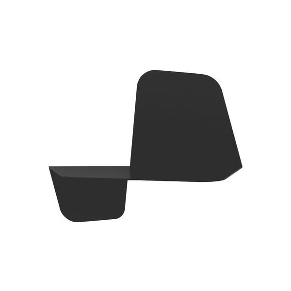 Čierna nástenná polica MEME Design Flap, dĺžka 42 cm