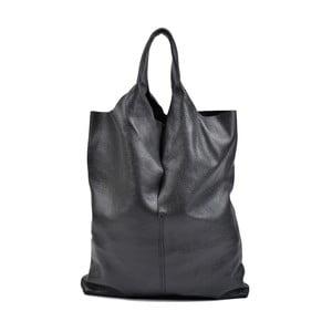 Čierna kožená kabelka Isabella Rhea Pemlio