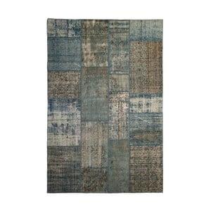 Vlnený koberec Allmode Patchwork Blue, 150x80 cm