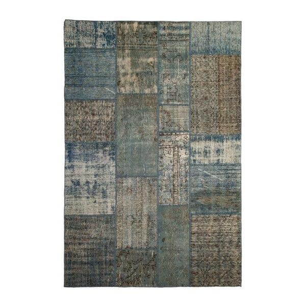 Vlnený koberec Allmode Patchwork Blue, 200x140 cm