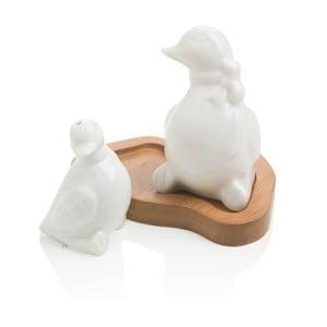Soľnička a korenička s podnosom Brandani Duck
