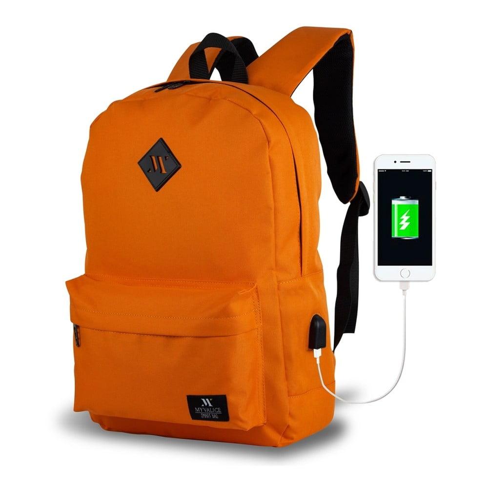 Oranžový batoh s USB portom My Valice SPECTA Smart Bag