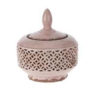 Keramická miska s krytom, 21,5 cm, ružová