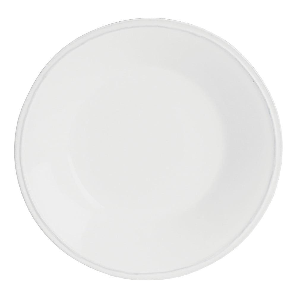 Biely kameninový polievkový tanier Costa Nova Friso, ⌀ 26 cm