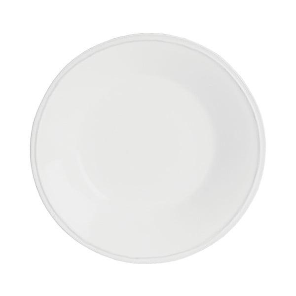 Biely kameninový polievkový tanier Costa Nova Friso, ⌀26cm