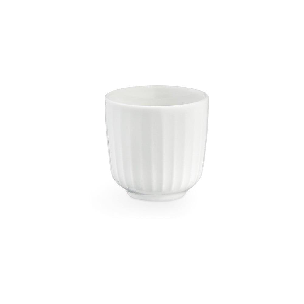 Biely porcelánový hrnček na espresso Kähler Design Hammershoi, 1 dl