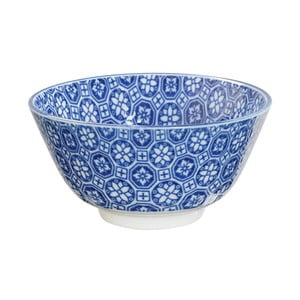 Modrá porcelánová miska na ryžu Tokyo Design Studio Flower, ⌀ 12 cm