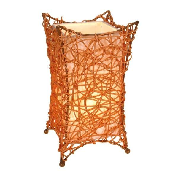 Oranžová stolová lampa Naeve Korbchen