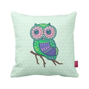 Vankúš Green Owl, 43x43 cm