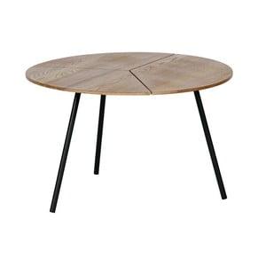 Hnedý konferenčný stolík WOOOD Rodi, ⌀ 60 cm