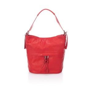 Červená kožená kabelka Giorgio Costa Ravena