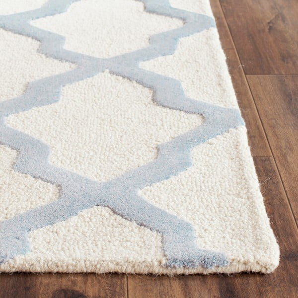 Vlnený koberec Ava Light Blue, 91x152 cm