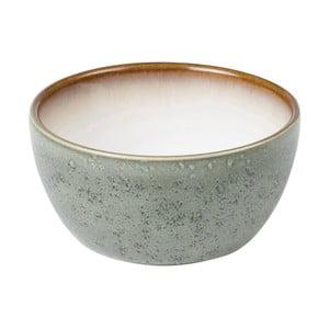 Zelenosivá kameninová miska s vnútornou glazúrou v krémovobielej farbe Bitz Mensa, priemer 10 cm