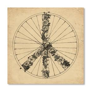 Plagát Peace And Bike Lines od Florenta Bodart, 30x30 cm
