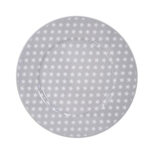 Dezertný tanier Krasilnikoff Stars Grey