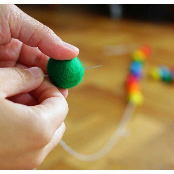 Ručne vyrobený guličkový puf Ping Pong, hranatý