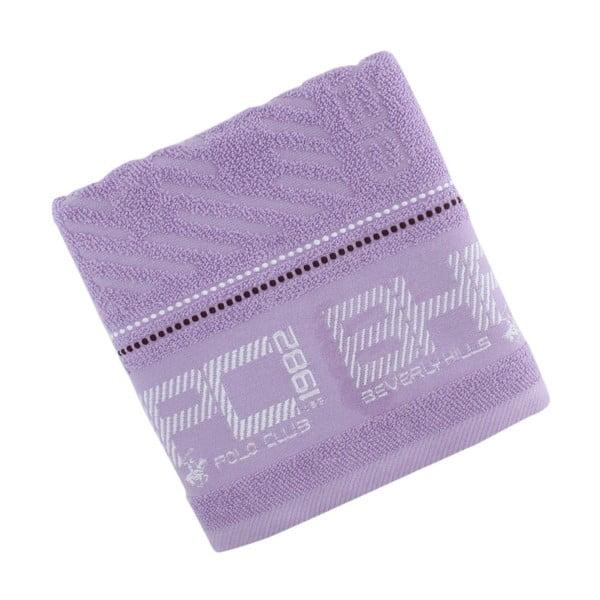 Pastelovofialový bavlnený uterák BHPC, 50x100cm