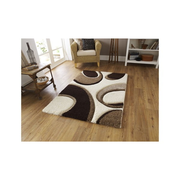Hnedo-béžový koberec Think Rugs Fashion, 120×170cm