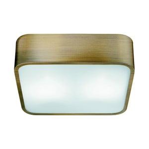 Stropné svietidlo Searchlight Flush, 25 cm, zlatá