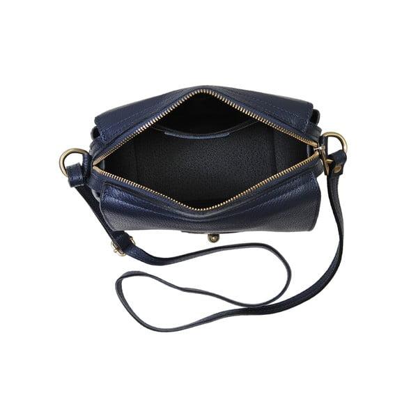 Modrá kabelka z pravej kože Andrea Cardone Alessio