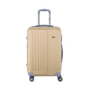 Cestovný kufor na kolieskách v béžovej farbe s kódovým zámkom SINEQUANONE Chandler, 71 l