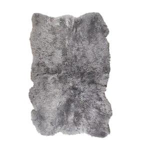 Sivý kožušinový koberec s krátkým vlasom Darte, 170 x 110 cm