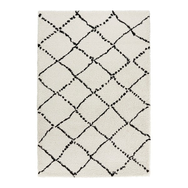 Čierno-biely koberec Mint Rugs Allure Ronno Black White, 80 × 150 cm