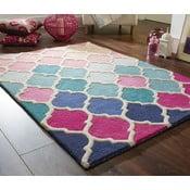 Modro-ružový vlnený koberec Flair Rugs Rosella, 80x150cm