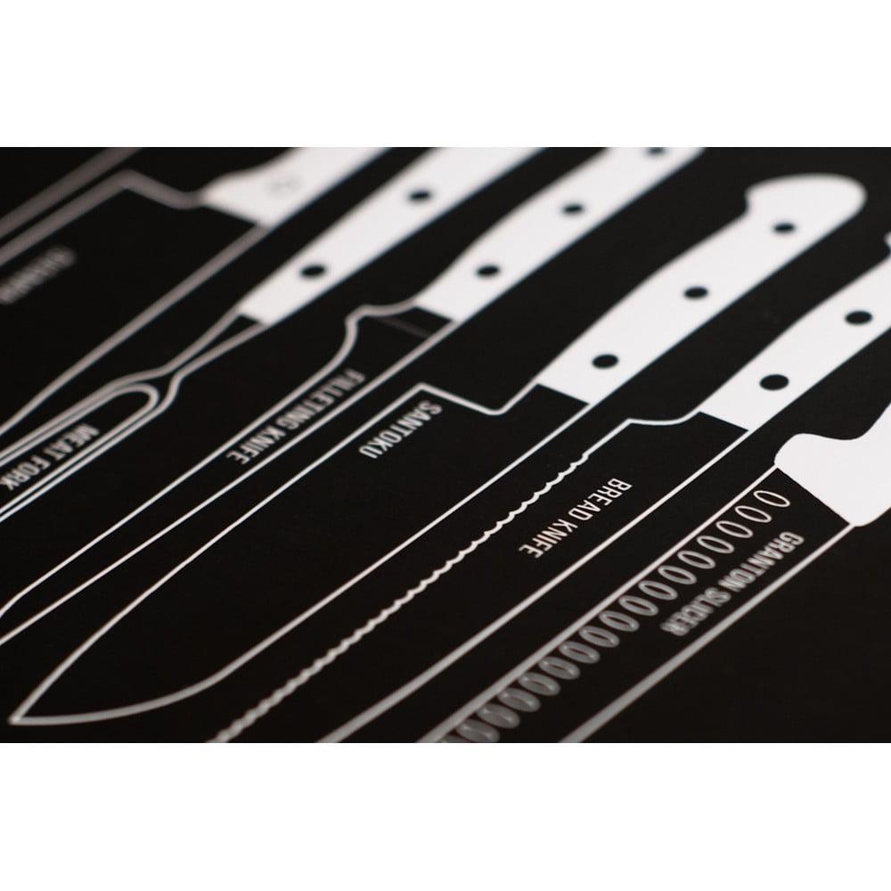 Čierny plagát Follygraph Knives a792cebb1fa