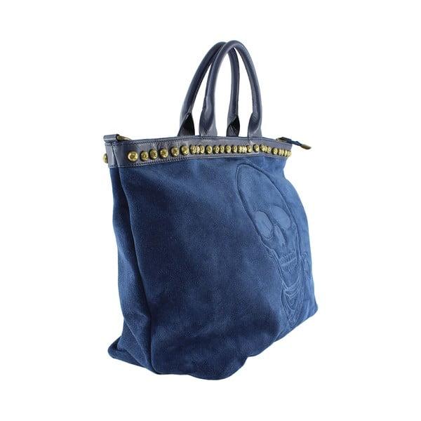Kožená kabelka Skull, modrá