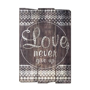 Dekoratívny nápis Heaven Sends Love Never Give Up