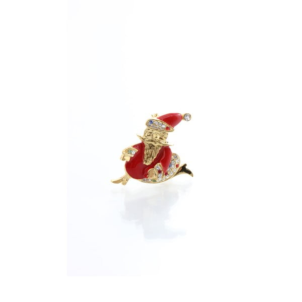 Brošňa Swarovski Elements Santa Claus Gold