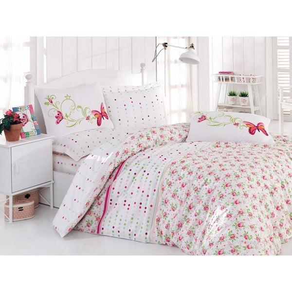 Obliečky s plachtou Nadya Pink, 200x220 cm