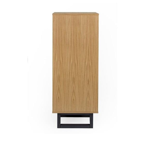 Komoda z brezového dreva Woodman Mora Narrow Herringbone Print