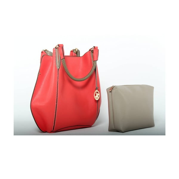 Kabelka Beverly Hills Polo Club 447 - Red/Beige