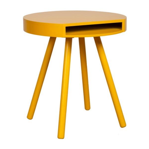 Stolík Hide & Seek, žltá z bistra U Kubistu