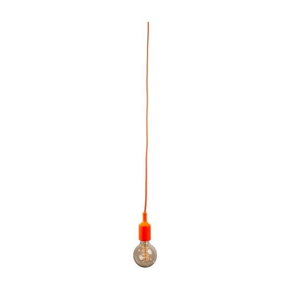 Textilný kábel s objímkou 3 m - oranžový