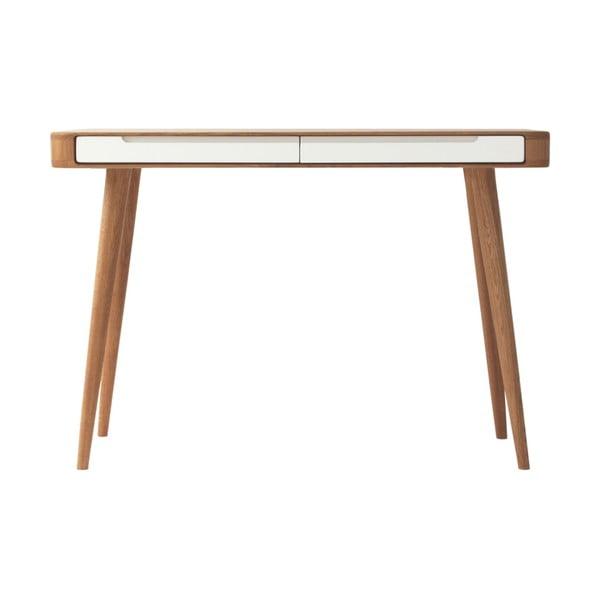 Konzolový stolík z dubového dreva Gazzda Ena, 110 x 42 x 75 cm