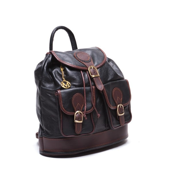 Kožený batoh Mangotti 2038, čierny