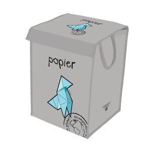 Sivý kôš na recyklovanie papiera Incidence  Rubbish
