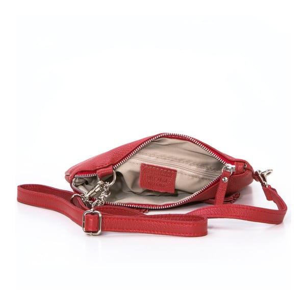 Kožená kabelka Alberto, červená