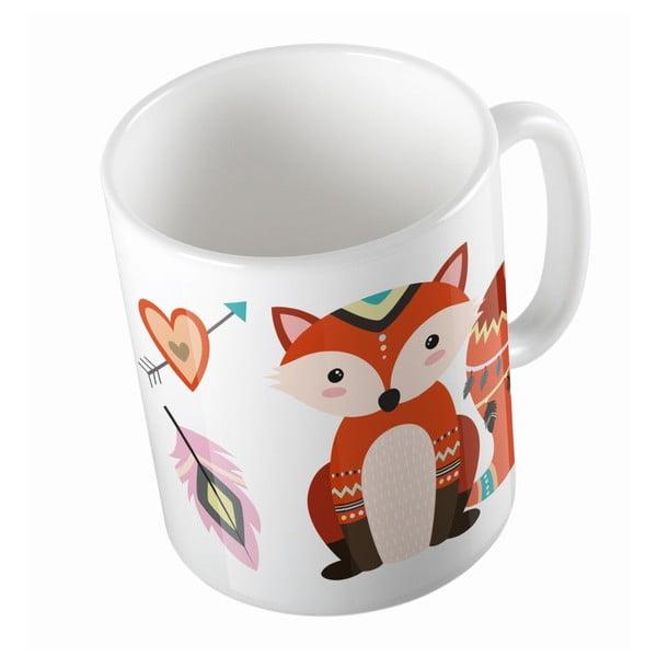 Keramický hrnček Two Foxes, 330 ml