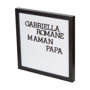 Biela dekoratívna tabuľa s čiernym rámom Opjet Paris Affichage, 30×30 cm