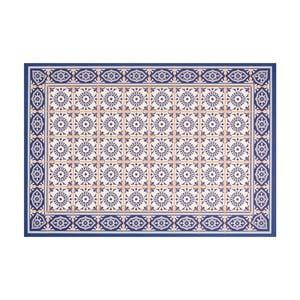 Modrý vinylový koberec Zala Living Aurelie, 65 × 100 cm