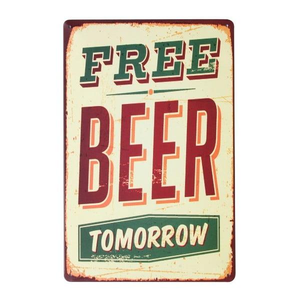 Ceduľa Free Beer, 20x30 cm