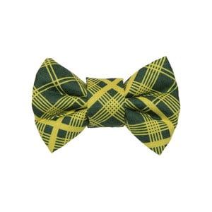 Zelený károvaný charitatívny psí motýlik Funky Dog Bow Ties, veľ. S