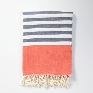 Hammam osuška z ručne tkanej bavlny ZFK Marius, 170 x 100 cm